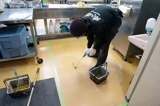 床防水(下塗り)