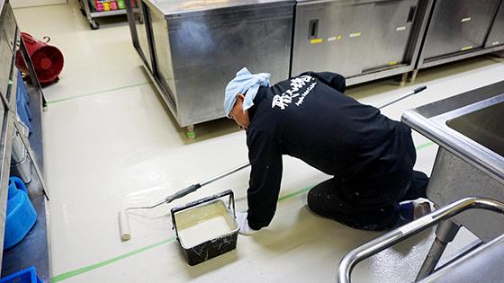床防水(上塗り)1