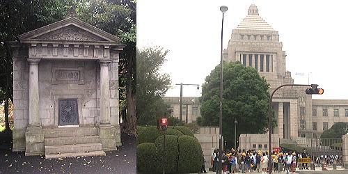 日本水準原点標庫と国会議事堂
