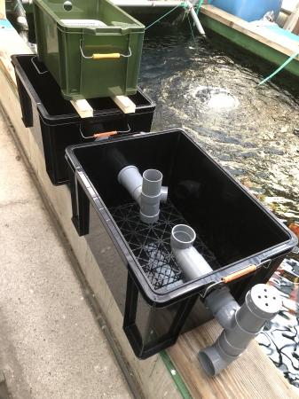 手作り濾過槽