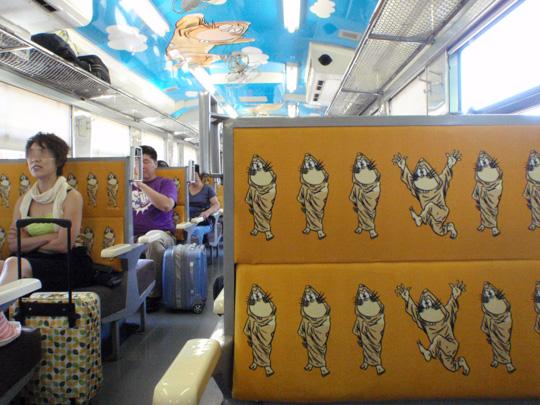 ねずみ男列車のシート