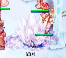 ぱしりの氷の像