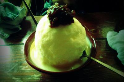 珈琲の田中 白熊 シロクマ 都城