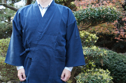 ドビー織り作務衣の袖の長さ