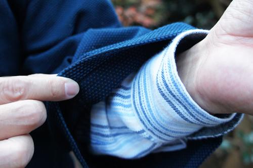 ドビー織り作務衣の袖口