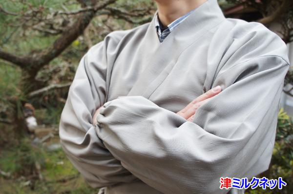 渋い色のお寺向け作務衣