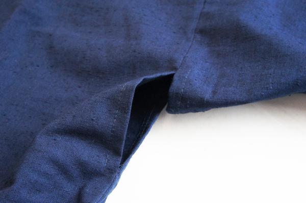 作務衣の袖脇の八ツ口