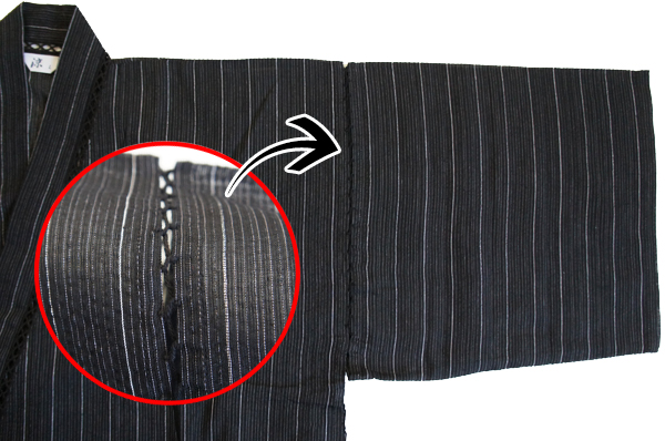 甚平の袖の付根