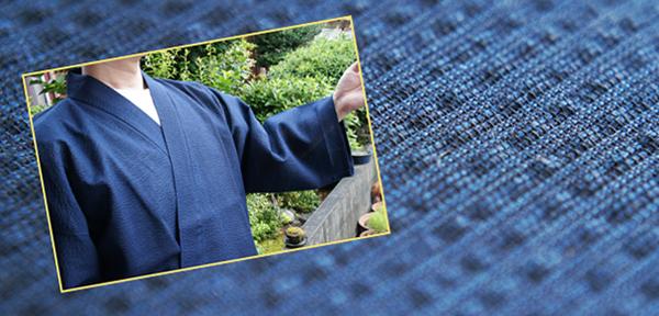 紺色しじら織り作務衣