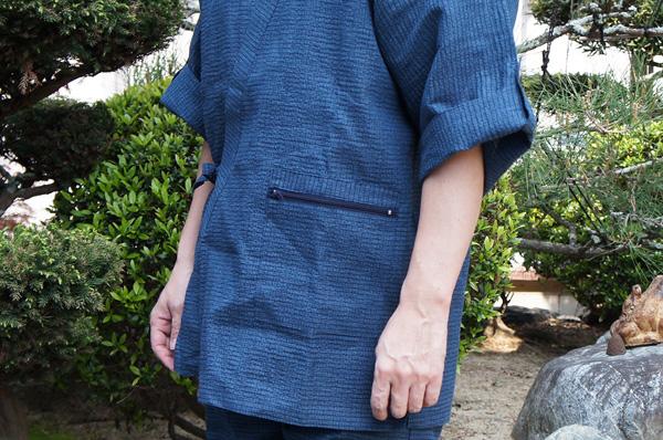 夏用作務衣の袖口
