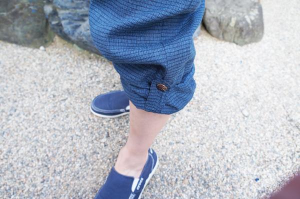 夏用作務衣のズボンの裾