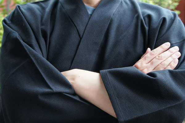 黒のドビー織り作務衣