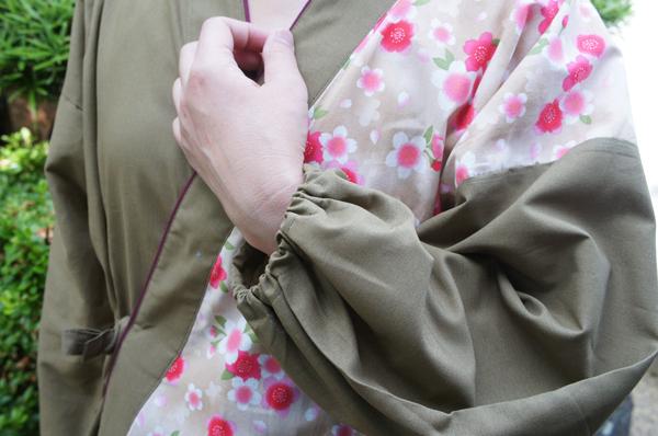 花柄のかわいい作務衣