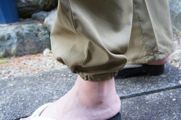 作務衣のズボン裾