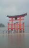 大雨の厳島神社