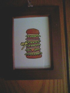 ハンバーガーに挟まれて幸せ