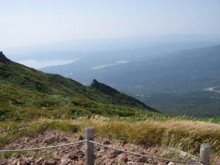田沢湖が見えます