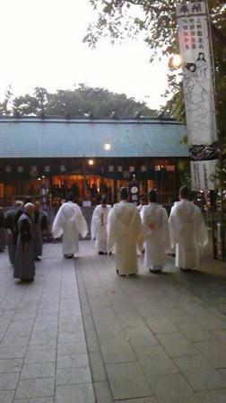 秋季例大祭 神事