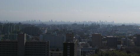 大阪市内を望む