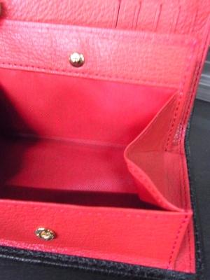 三つ折り財布 ミドルウオレット ボックス型小銭入れ