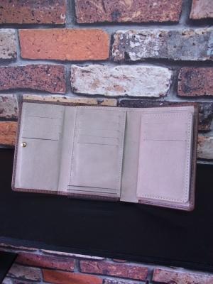 三つ折り財布 ミドルウォレット アンティーク