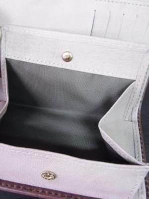 三つ折り財布 ミドルウォレット ボックス型小銭入れ