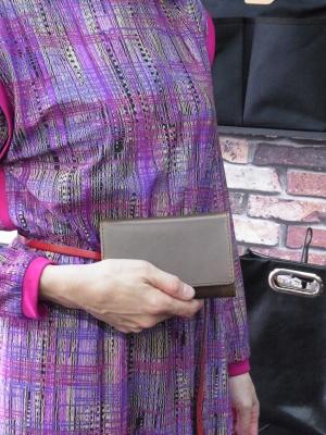 三つ折り財布 ミドルウォレット クロムエクセル