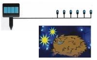 ソーラーパネル青色LEDイノシシ防止機