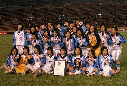 準優勝の東京女子体育大学。
