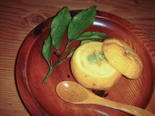柚子釜の茶碗蒸し