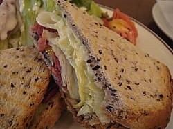 サンドイッチが美味しい!