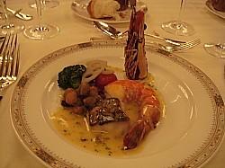 大車海老とオリーブ風味の真鱈の天火焼き