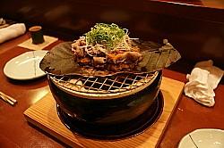 イベリコ豚の朴葉味噌焼き