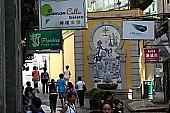 街中にはアズレージョ