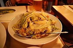 バカリャウとキャベツの炒め物