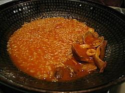 カタプラーナのスープでリゾット