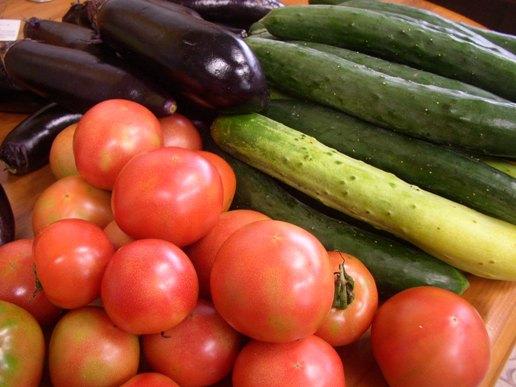 夏のたまちゃんの穫れたて野菜