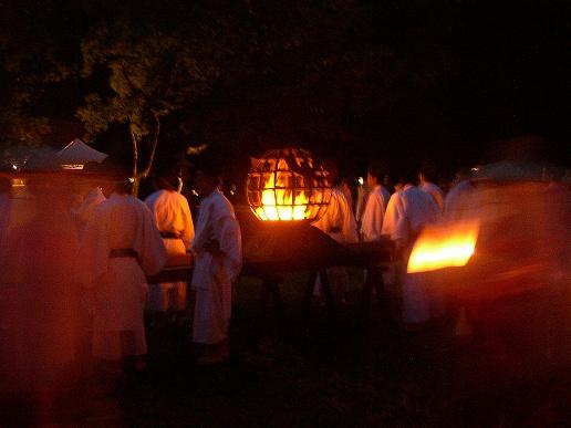 火祭りの時代行列