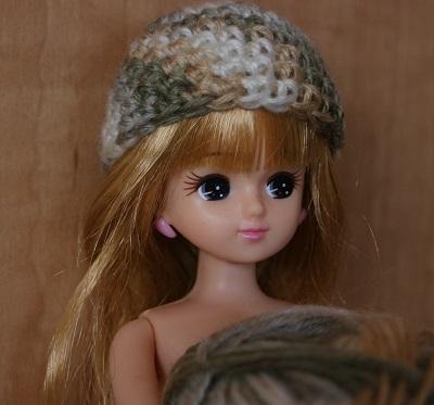 迷彩色ニット帽