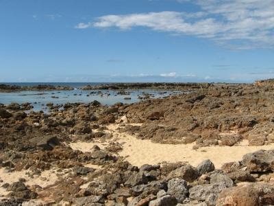 岩ごろごろ海辺