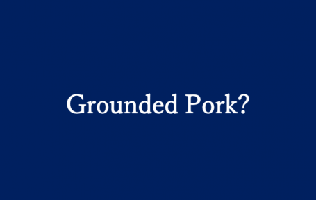 grounded pork
