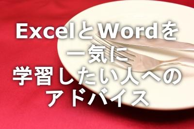 ExcelとWordを一気に学習したい人へのアドバイス