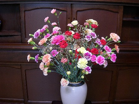 カーネションの花束