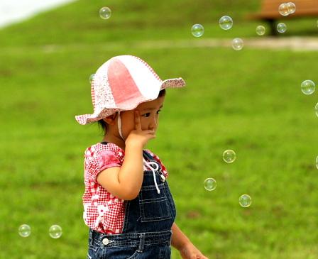 シャボン玉と幼女