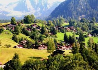 スイスの民家