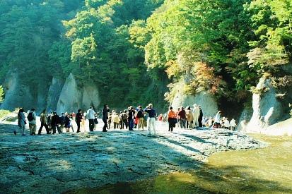 初秋の渓谷