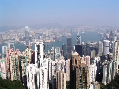 香港中心部のビル郡