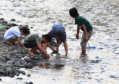 水辺の子供達