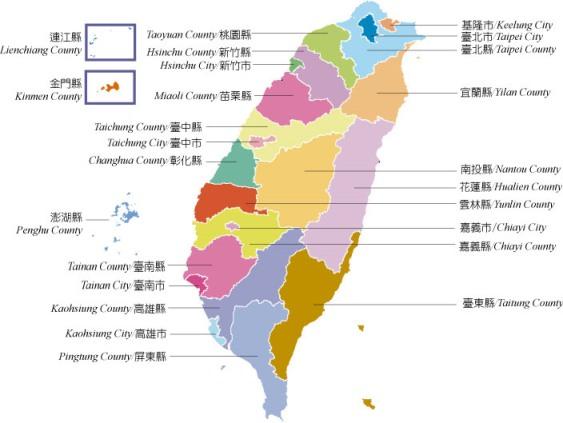 台湾全体図