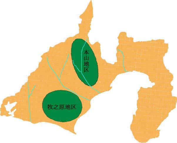静岡の主要茶産地